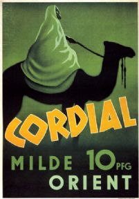 Vintage Travel Poster Cordial Milde Orient